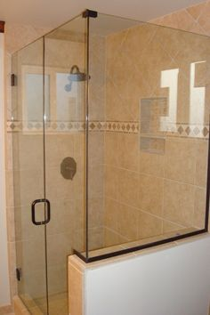 Cute Neutral Ceramic Wall Shower Panels And Chrome Head Shower Added Frameless Heavy Glass Shower Doors In Modern Stand Up Shower Room Ideas