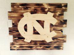 University of North Carolina Tarheels wood by WallyWallhangers