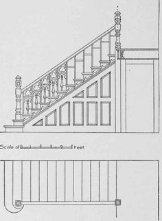 No other stair, perhaps, looks so well at the starting point as one having a bulinose step. 44 are shown a plan and elevation of a flight of stairs having a bullnose tread. House Exterior Color Schemes, Exterior Colors, Exterior Design, Interior Trim, Interior And Exterior, Staircase Molding, Space Under Stairs, Sliding French Doors, Construction Documents