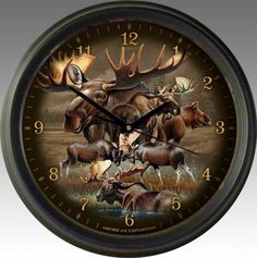 Moose Collage 16-inch Wall Clock