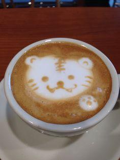 ラテアート トラ  Latte art  Tiger