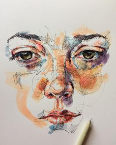 "5,428 Me gusta, 33 comentarios - (@noelbadgespugh) en Instagram: ""ink & watercolor""Pinterest: @JillianMcneill"