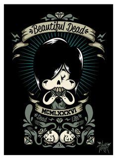 Beautiful Dead by Johnny Terror, via Behance