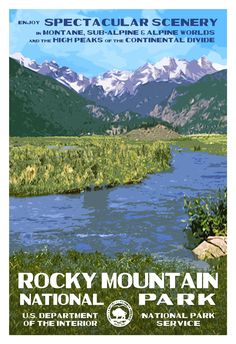 Rocky Mountain National Park (Moraine Park) | National Park Posters