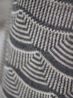 Mimoods Knits. Interesting combination of stripes in stockinette stitch and…