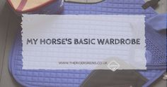 So today I thought I would share what kind of things are in my horse's wardrobe! Of course, this will depend on a lot of things like if y...