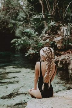 Braids 37 Braided Hairstyle Spend The Summer With You hairstyle, braided hair, fashion Box Braids Hairstyles, Braided Ponytail Hairstyles, Summer Hairstyles, Big Braids, Twist Braids, Ombré Hair, Wild Hair, Hair Trends, Curly Hair Styles