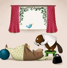 Hrkalo / Snorybear, picture book on Behance