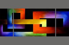 Modern abstract paintings on canvas. Bright Connection is a hand-painted artwork, created by the artist Osnat Tzadok. An online art gallery of modern paintings - artwork id Abstract Painting Techniques, Art Techniques, Painting Abstract, Canvas Paintings For Sale, Canvas Art, Art Paintings, Abstract Geometric Art, Painting Inspiration, Modern Art
