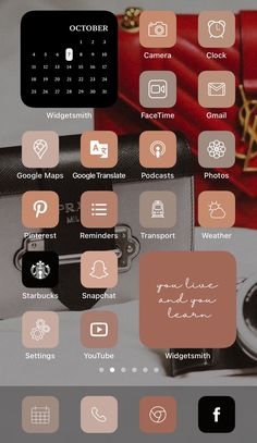 Want a home screen that looks like this? Check out SOSO Branding on Etsy (etsy.com/shop/sosobranding) for app covers to customize your home screen and make it aesthetically pleasing!   iPhone home screen ideas | Home screen inspo | Aesthetic home screen inspiration | Widgetsmith Shortcuts app | Aesthetic home screen inspo | iOS 14 widget photos | iOS 14 app covers | iOS 14 app icons Microsoft Visio, Microsoft Powerpoint, Tinder Tips, Shortcut Icon, Any App, App Covers, Open App, Brown Aesthetic, Iphone App