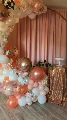 Birthday Balloon Decorations, Birthday Backdrop, Birthday Balloons, Gold Birthday Party, 16th Birthday, Birthday Parties, 50th Birthday Themes, 15th Birthday Party Ideas, Birthday Celebration