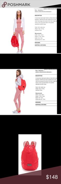 adidas by Stella McCartney RunningCycling Backpack adidas by Stella McCartney Running Cycling Backpack Orange/Red Color adidas by Stella McCartney  Bags Backpacks