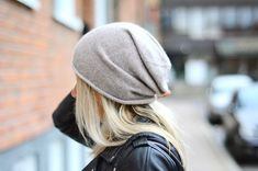 saggy beanies...this is cute because there's not too much hanging in the back