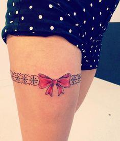 Sexy Garter Belt Tattoo Designs for Women Pin by Eddyj On Tats sexy garter sexy garter Lazo Tattoo, Tattoo Lace, Thigh Garter Tattoo, Corset Tattoo, Lace Bow Tattoos, Tattoo Femeninos, Lace Tattoo Design, Music Tattoo Designs, Tattoo Ideas