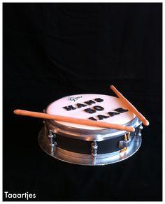 Snare cake Drum Taaartjes