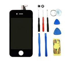 Home Button with Rubber Gasket for Apple iPhone 4S Black with Tool Kit CDMA /& GSM