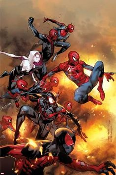 The Amazing Spider-Man No. 13 Cover, Featuring: Scarlet Spider, Spider-Man, Spider-Ham and More Poster