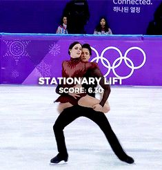 """scootmoir: """"Lifts in Tessa Virtue and Scott Moir's Moulin Rouge Free Dance """" Virtue And Moir, Tessa Virtue Scott Moir, Ice Skating, Figure Skating, Tessa And Scott, Spin Out, Ice Dance, Winter Olympics, My Memory"""