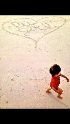 Beach baby announcement