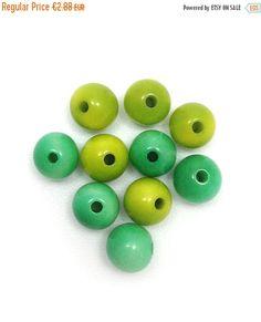 Tagua Perlen, aqua hellgrün , Mix, 5mm, 10 Stück,