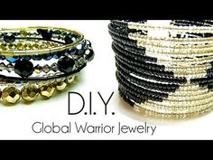 Tutoriel - D.I.Y. : Global Warrior Jewelry - Fil à mémoire de forme / memory wire cuff bracelet - YouTube
