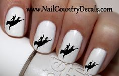 "#summer #deals #fashion #nails #sale #country #hot #coupon code ""PINTEREST"" Saves You 15% On Your Order 50pc Horse Rider Horse Bucking Cowgirl Rodeo Nail Decals Nail Art Nail Stickers Best Price NC1906"