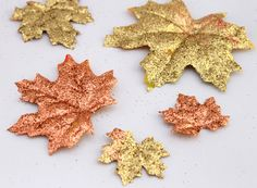 Leaf Suncatchers  The combinatinon of paper coffee filters and liquid watercolors make these leaf suncatchers dazzling on your windows and doors. What you'll need:  6 - 8 paper coffee filters A leaf template Liquid Watercolors Aluminum, disposable baking pan  Directions:  Use a