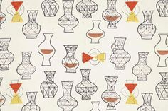 "Vases : Marian Mahler : c1953  Mid-Century Modern Art : Giclee Print 11x17""cs…"