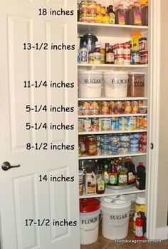 Shelf spacing for pantry