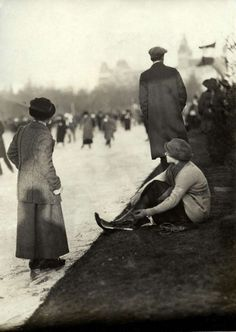 "alexlug: ""Amsterdam ice skating club, 1914. """