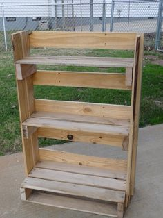 my son's design & building project this christmas: his book shelf out of pallets