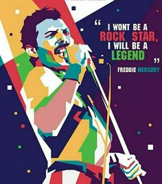 An illustration of my dearest Freddie Mercury accompanied by one of his most well known quotes. We miss you, baby. Pop Art Portraits, Queen Art, We Will Rock You, Somebody To Love, Queen Freddie Mercury, Killer Queen, Arte Pop, Rock Legends, Glam Rock