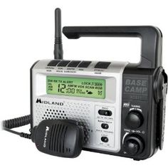 Emergency Crank Radio with 2-Way Radio by Midland. $79.03. MIDLAND EMERGENCY CRANK RADIO CRANK RADIO2-way radio with emergency crank power22-channel GMRS radio; dynamo crank; AM/FM alarm clock radio; flashlight121 privacy codes; VOX, channel scan; auto squelch; hi/low power settingsNOAA all hazards alert weather radio and alert overrideLarge LCD display with backlighting; water-resistantIncludes accessory hand MIC, rechargeable battery pack, AC wall adapter, D...