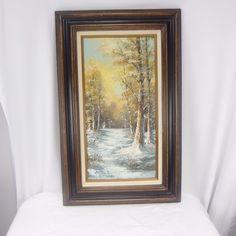Cantrell Oil Painting Landscape Winter Scene Snow Snowscape 20x32