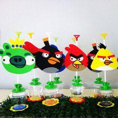 Centros de mesa Angry Birds! Aracely Miranda Artesanatos.