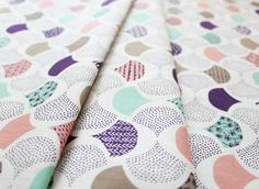 Cloud9 Fabrics KOI Scalloped Edge Ivory