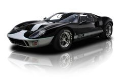 Black & Silver 1966 Ford CAV GT40 MK 1 | RK Motors Charlotte | Collector and Classic Cars
