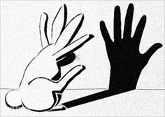 Hand shadows BY a rabbit instead of OF a rabbit