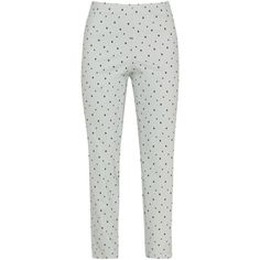 Sallie Sahne Light-Grey / Black Plus Size Ronda star print slim line... (£150) ❤ liked on Polyvore featuring pants, capris, plus size, slim cropped pants, plus size elastic waist pants, elastic waist pants, high waisted stretch pants and slim fit pants
