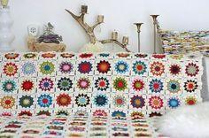 crochet granny-square afgan. must learn to crochet.