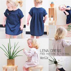 Lena dress gratis naaipatroon – free pattern & tutorial