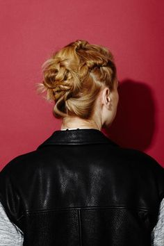 simple twisted updo. #hair #tutorial #zappos