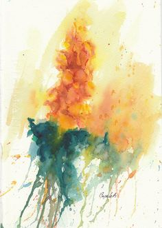 Items similar to Yellow Hollyhock Flower - original watercolor painting gladiola hyacinth floral on Etsy Watercolor Tattoo, Watercolor Paintings, Watercolors, Hollyhocks Flowers, Giclee Print, Fine Art, The Originals, Yellow, Charity