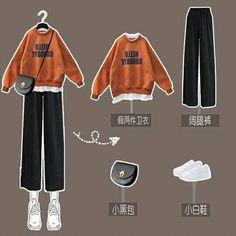 Korean Girl Fashion, Ulzzang Fashion, Korea Fashion, Petite Outfits, Modest Outfits, Cool Outfits, Teen Fashion Outfits, College Outfits, Korean Outfits