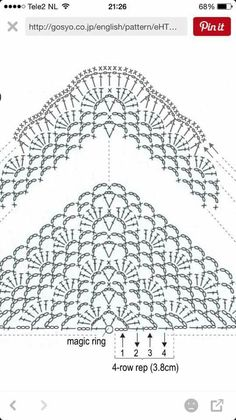 Crochet Shawl Diagram, Crochet Poncho, Crochet Chart, Crochet Scarves, Crochet Clothes, Crochet Lace, Crochet Stitches, Crochet Motif, Free Crochet
