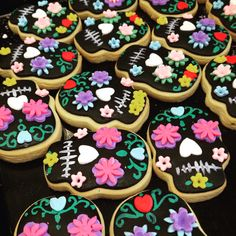 Day of the dead cookies.