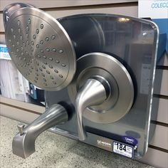Moen® simplifies your life by grouping matching Shower Fixtures on a single displayer for instant selection as a group. No more fretting about what Shower Head will look good with what Faucet with … Shower Fixtures, Slat Wall, Faucets, Shower Heads, Visual Merchandising, Espresso Machine, Plumbing, Close Up, Bath
