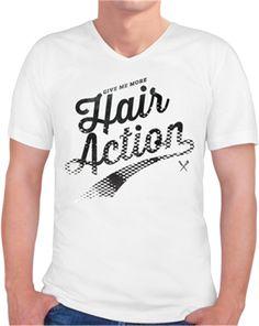 78445990c64 Hair Action Kendin Tasarla - Erkek V Yaka Tişört
