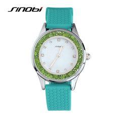 2016 New Diamonds Quartz-watch SINOBI Luxury Brand Watches Women 5 Color Fashion Ladies Watches Waterproof reloj mujer Clock