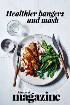 You wouldn't believe our healthier bangers and mash recipe is under 400 calories. A few simple swaps mean you can enjoy comfort food on a diet or for a lighter midweek meal. This delicious recipe is also gluten-free and on the table in just 30 minutes. Bangers And Mash Recipe, Midweek Meals, Gluten Free Dinner, Healthy Alternatives, Quick Easy Meals, Family Meals, Dinner Recipes, Yummy Food, Homemade Recipe
